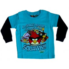 Angry Birds Space T-Shirt Longsleeves - Blauw * Nieuw