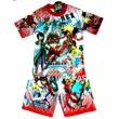 """Bakugan New Vestroia """"Battle Brawlers"""" Set - T-Shirt & Korte Broek -  Rood * Nieuw"""