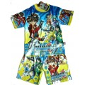 """Bakugan New Vestroia """"Battle Brawlers"""" Set - T-Shirt & Korte Broek - Blauw * Nieuw"""