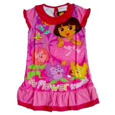 "Dora de Explorer Jurk ""My Flower Friends"" - Roze * Nieuw"