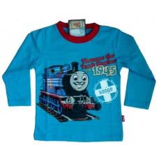 Thomas de Trein Longsleeve T-Shirt - Aquablauw * Nieuw