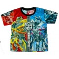 Transformers T-Shirt - Black / Blue / Red * New